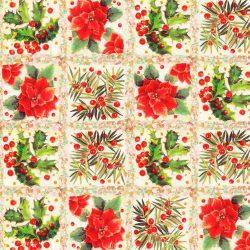 Karácsonyi Indigo 13 pamutvászon