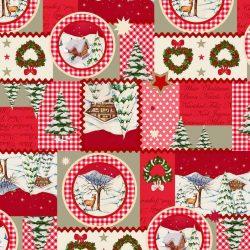 karácsonyi indigó 15 pamutvászon
