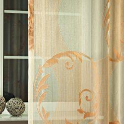Fényáteresztő függöny Geysir narancs színű organza.