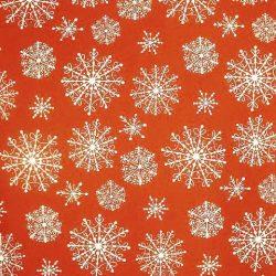 - piros alapon, kisebb és nagyobb fehér hópikék