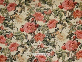 Gobelin bútorszövet rózsás