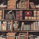 Könyvespolc gobelin bútorszövet
