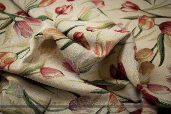 tulipános gobelin bútorszövet gyűrt2