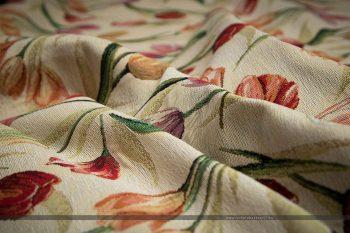 tulipános gobelin bútorszövet gyűrt