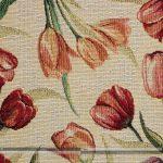 tulipános gobelin bútorszövet zoom
