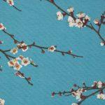 Cseresznyevirágzás dekorvászon kék zoom