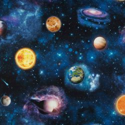 Bolygók digitális nyomtatású pamutvászon