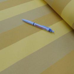 SAHARA csíkos sárga-bézs dralon