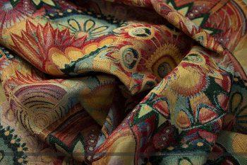 Gobelin bútorszövet művészi mandala gyűrt