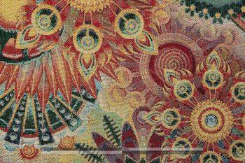 Gobelin bútorszövet művészi mandala - zoom