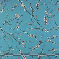 cseresznyevirágzás kék dekorvászon