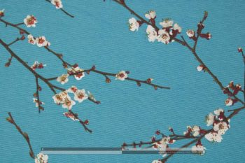 cseresznyevirágzás kék dekorvászon zoom