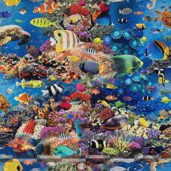 akvárium pamutvászon digitális nyomtatás