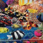 akvárium pamutvászon digitális nyomtatás zoom