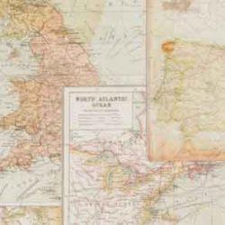 Európa térképes pamutvászon