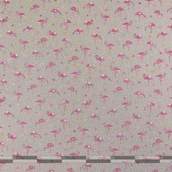 flamingós dekorvászon