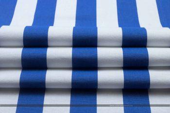 MODRA nyugágyvászon kék-fehér hajtott