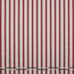 Piros-fehér-natúr csíkos dekorvászon 100