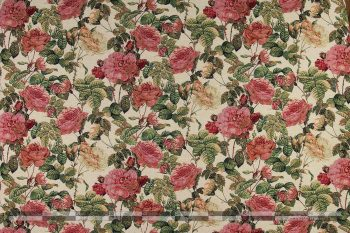 Rózsás gobelin bútorszövet