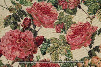 Rózsás gobelin bútorszövet zoom