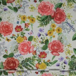 Rózsás kültéri dekorvászon 100