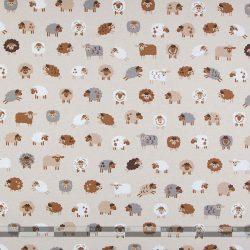 színes bárányos dekorvászon 100