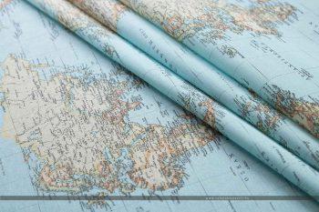 térképes dekorvászon hajtott