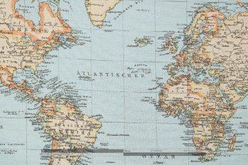 térképes dekorvászon zoom atlanti