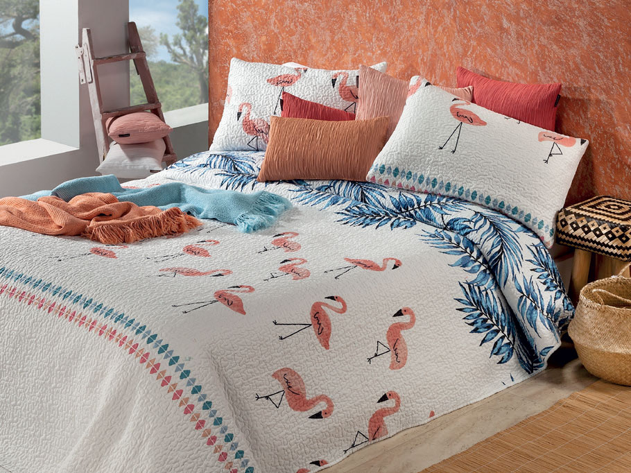ágytakaró választék - flamingós tropic ágytakaró