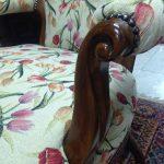 tulipános bútorszövet karfás széken