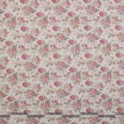 Rózsás dekorvászon pink sűrű