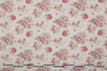 Rózsás dekorvászon pink közepes