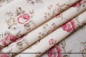 Rózsás dekorvászon pink közepes hajtott