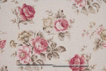 Rózsás dekorvászon pink közepes zoom