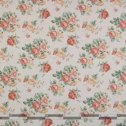 Rózsás dekorvászon narancs közepes 100