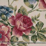 Rózsás dekorvászon vörös nagy zoom
