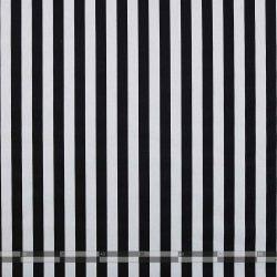 Fekete-fehér csíkos vászon 100