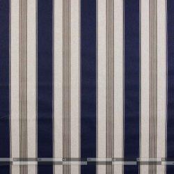 kék és nyers színű csíkos vászon - 100
