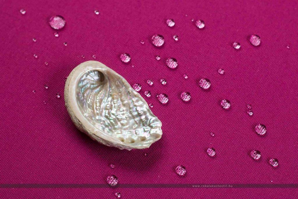 RISMA vízlepergető dekorvászon magenta kagyló