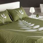 nayla zöld leveles ágytakaró