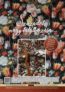 roka veranda hirdetés fekete alapon tulipános