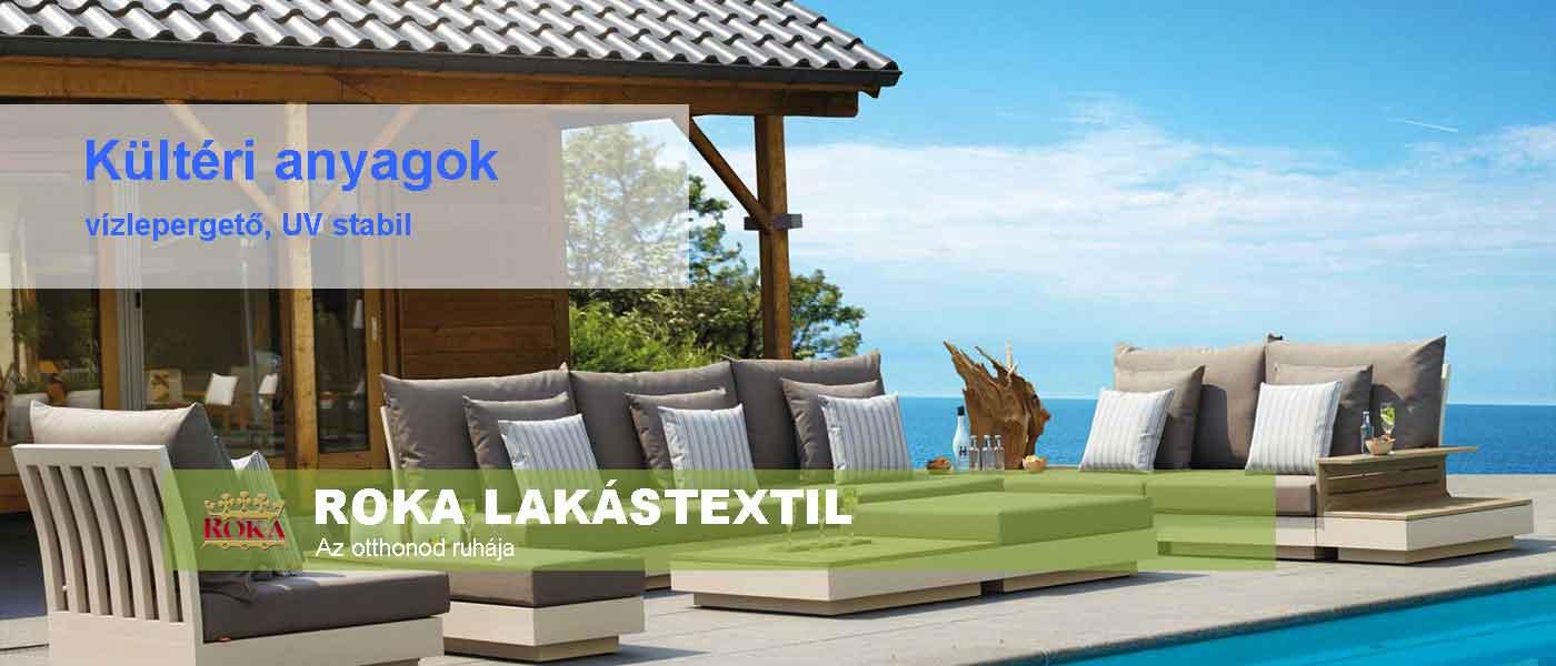 Kültéri anyagok ROKA Lakástextil