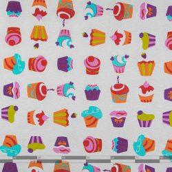 Színes maffinok dekorvászon ekrü 100