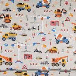Munkagépes narancssárga dekorvászon 07299-160 100