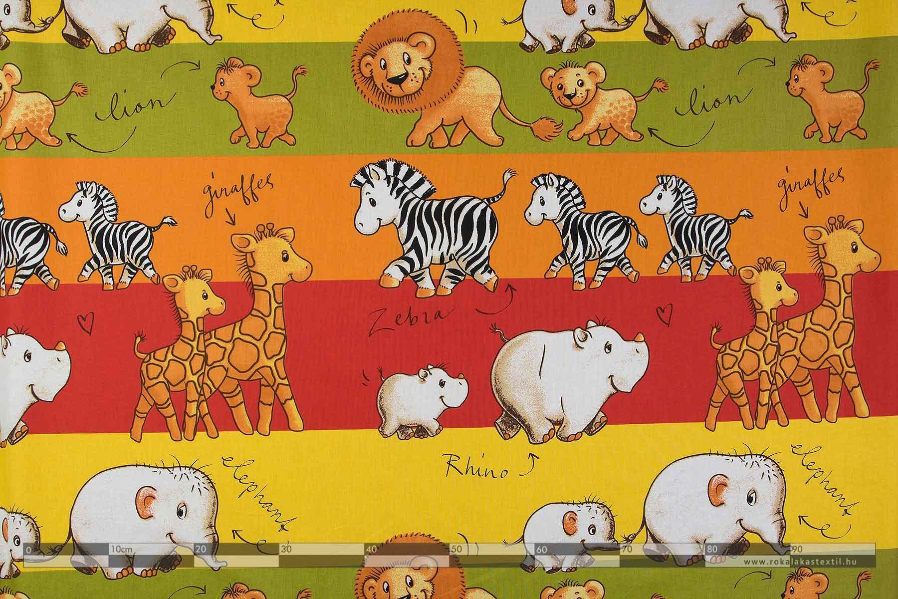 Safari óvoda pamutvászon 100