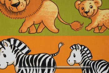 Safari óvoda pamutvászon zoom