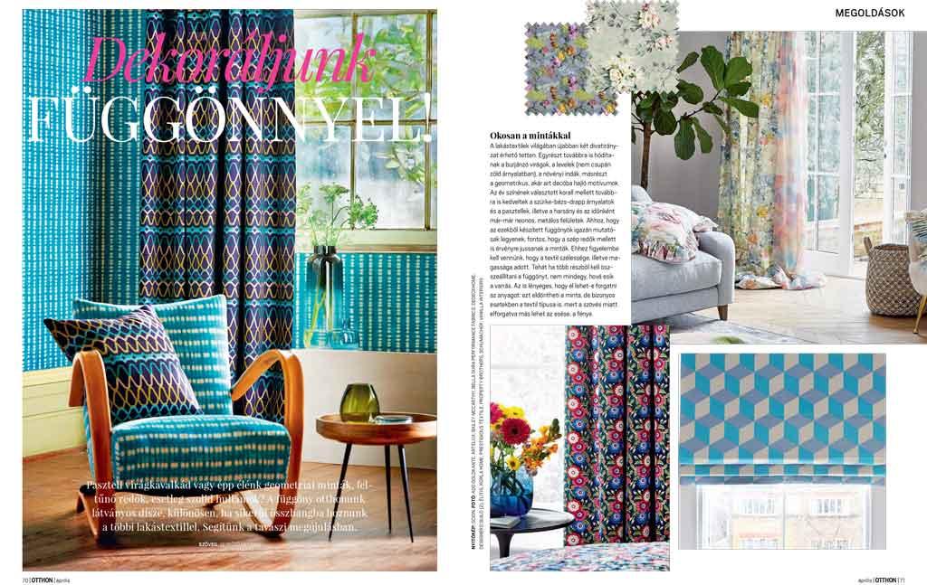 Otthon magazin megjelenés függöny