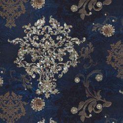 barokk mintás bútorszövet kék 1000 karácsonyi