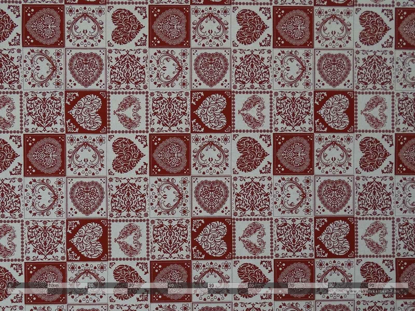 Szív alakú minták dekorvászon 100