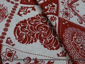Szív alakú minták dekorvászon minta